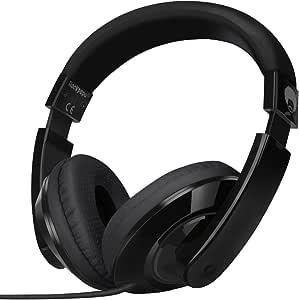 Rockpapa Comfort Stereo On ear/Over ear Headphones Earphones, Adjustable Headband for Kids Childs/Adults, iPad Macbook Surface MP3/4 CD/DVD Laptop Tablet Phone Black