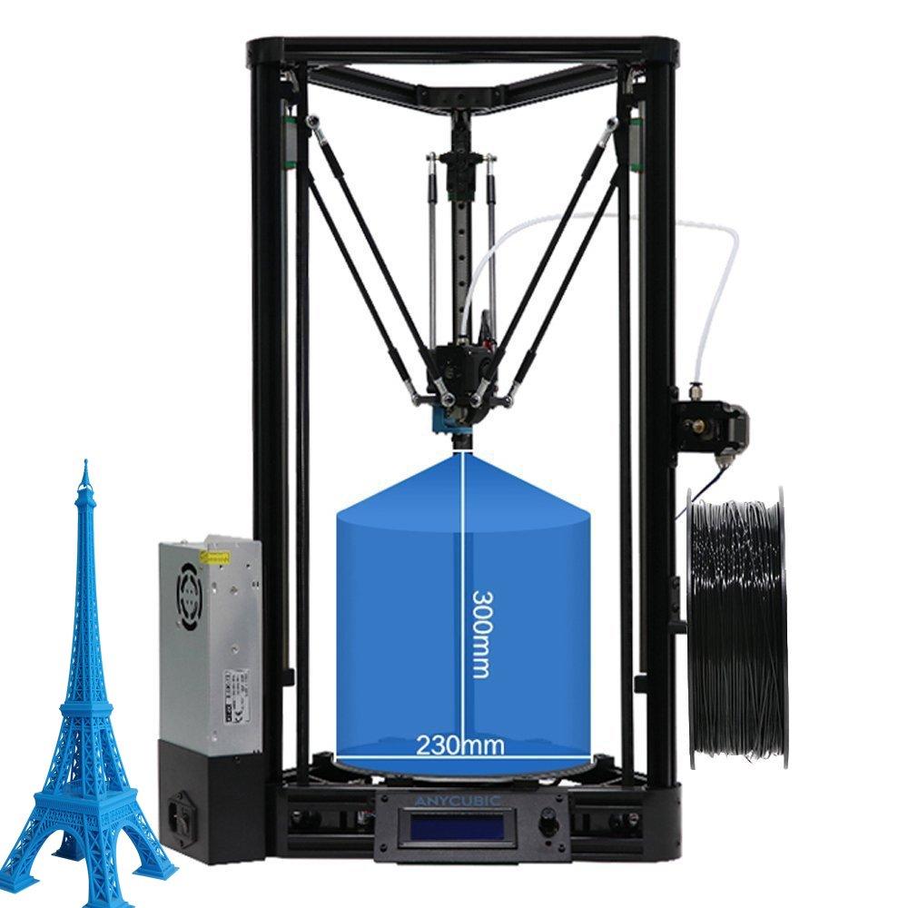 ANYCUBIC Kossel Linear PLUS 3D Druckerbausatz (verbesserte Version) Mit Auto Leveling und teilweise vorgefertigt DE-KOSSEL