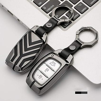 ontto - Funda para Llave de Metal con Llavero para Hyundai ...