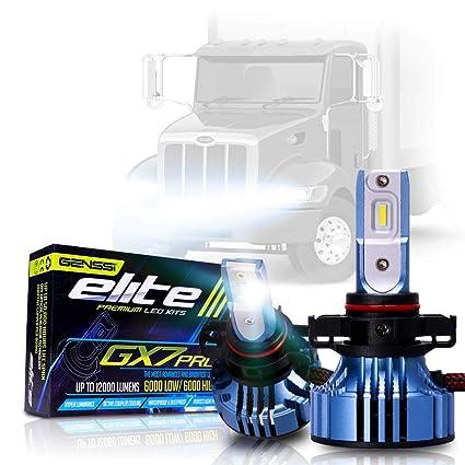 LED Conversion Kit Bulbs GX7 Pro for Peterbilt 330 325 335 340 348 384 386  387 Truck Headlight Lamp High Low