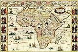 Africa - Panoramic Map (9x12 Art Print, Wall Decor Travel Poster)