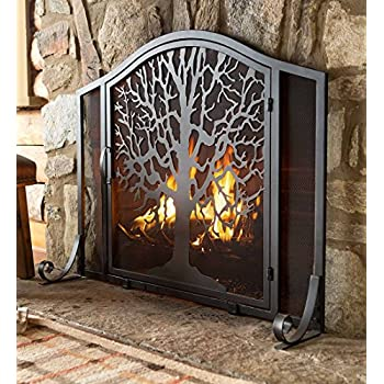 Amazon Com Large Tree Of Life Metal Fireplace Screen With