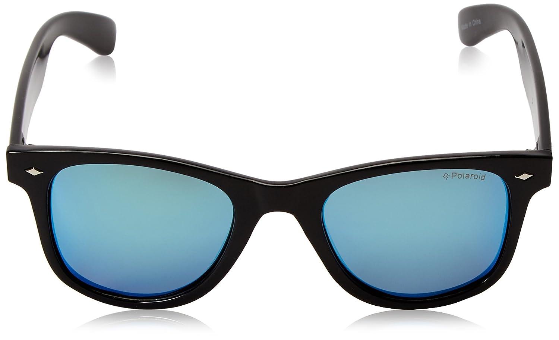 Polaroid Unisex-Erwachsene Sonnenbrille Pld 6009/S M JY D28, Schwarz (Shiny Black/Greyblmirror Pz), 50