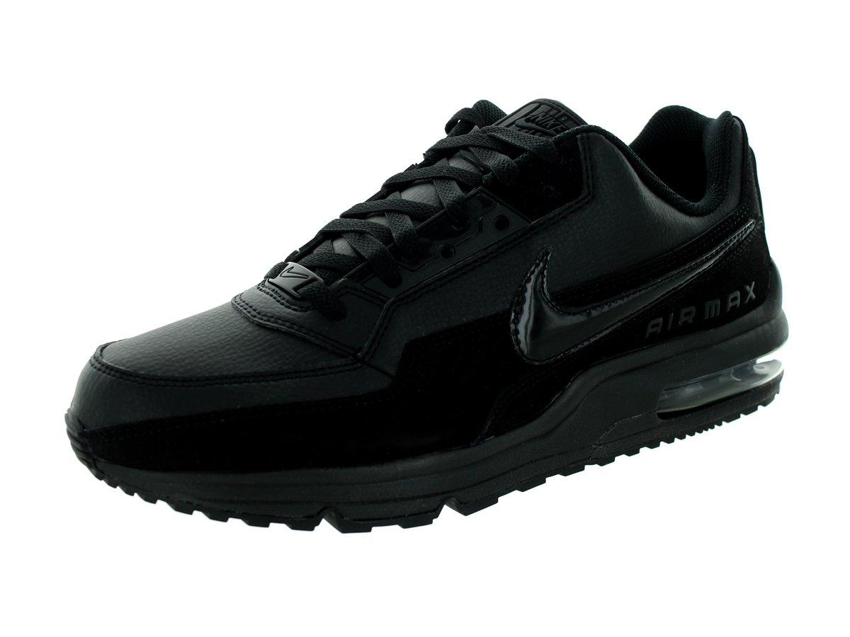 a2c01e067f4 Galleon - NIKE Men s Air Max LTD 3 Black Black Black Leather Casual Shoes  15 M US