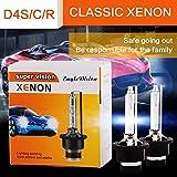 Pair HID Bulb Conversion 35W 5500LM D4S 6000K Quick Start High Brightness Anti-UV