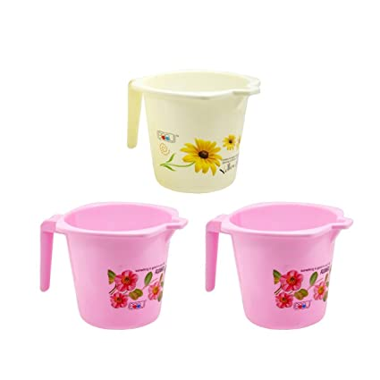 Frabjous Plastic Bathroom Mug- Set of 3 Mugs(Assorted Colors)
