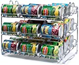 kitchen cabinet food storage - Stackable Can Rack Organizer, Storage for 36 cans - Great for the Pantry Shelf, Kitchen Cabinet or Counter-top. Stack Another Set on Top to Double Your Storage Capacity. (Chrome Finish)