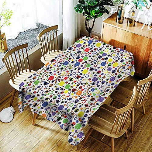 Angoueleven Horseshoe,Tablecovers Rectangular Lucky Charms Ladybird 52