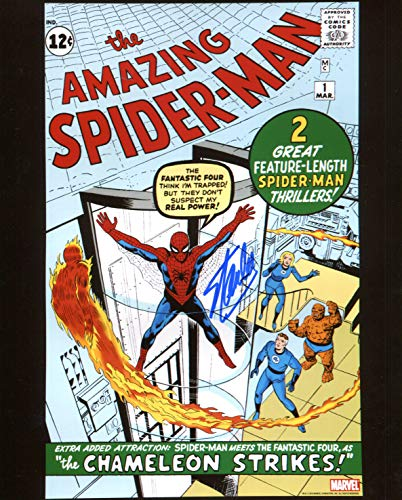 Stan Autographed 8x10 Photo - Stan Lee Amazing Spiderman #1 Signed/Autographed 8x10 Glossy Photo. Includes Fanexpo Certificate of Authenticity and Proof of signing. Entertainment Autograph Original.