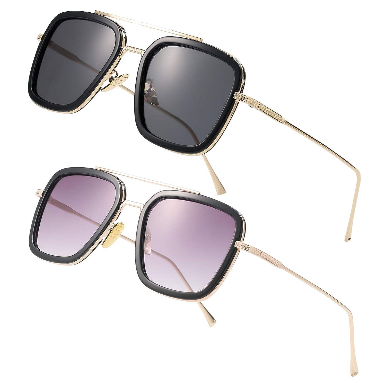 Amazon.com: Tony Stark - Gafas de sol cuadradas con marco de ...