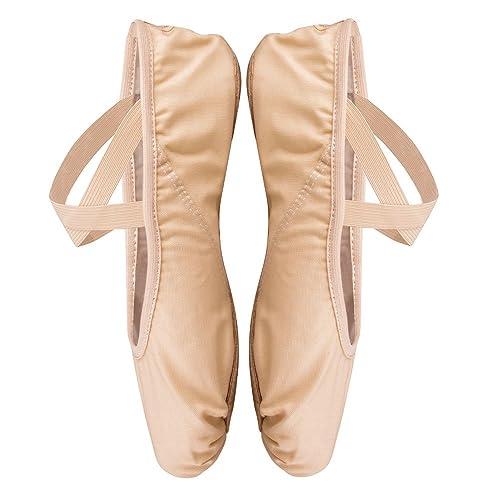 Zapato de Ballet para Niña y Mujer,Zapatillas Media Punta de Ballet Transpirable,Suaves