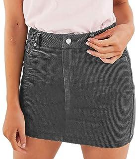 883cf0a648 Angelegant Corduroy Skirt Women's High Waisted Fringed Slim Fit Elastic  Bodycon Short Mini Skirt