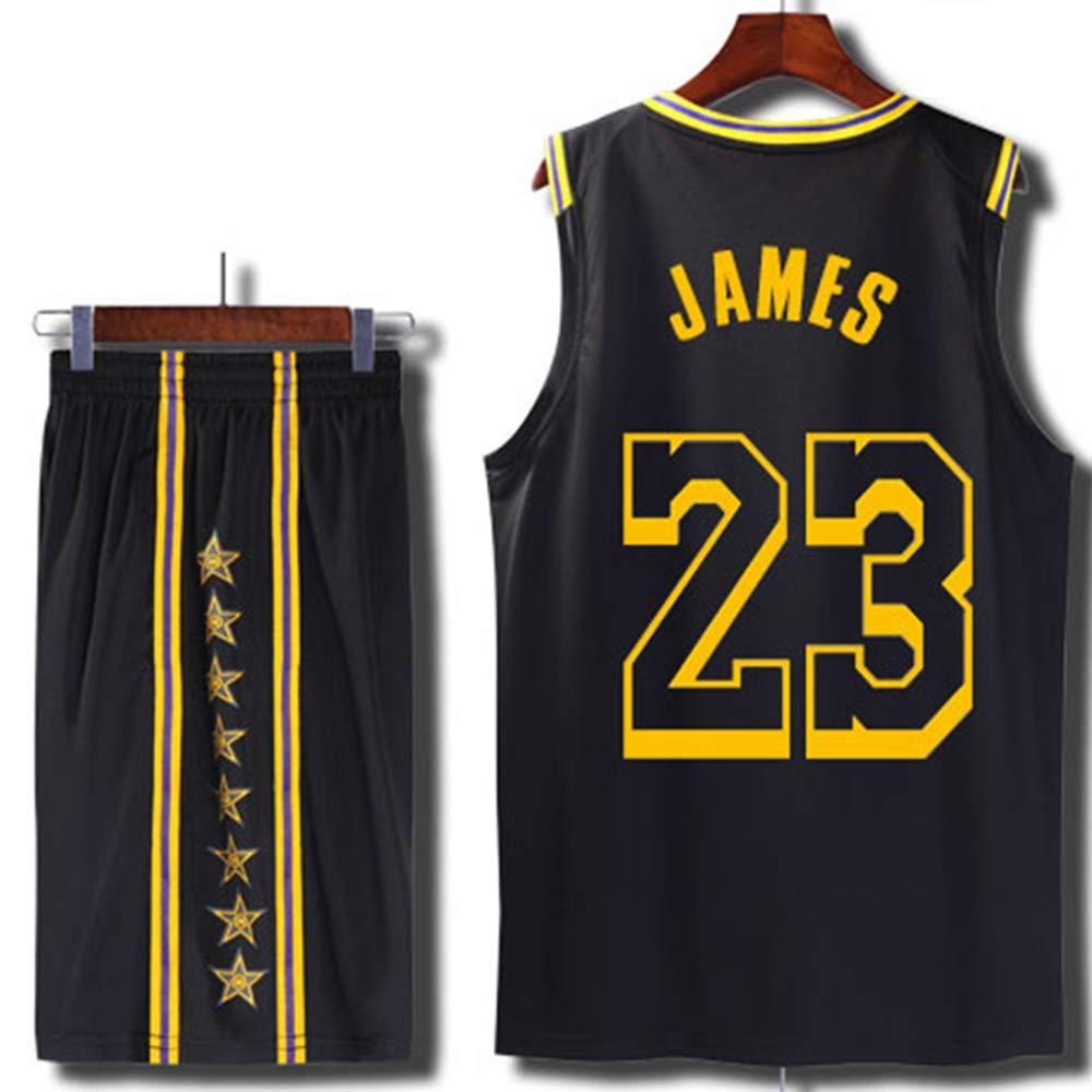 Couleur: Noir KONGC James Maillot Maillot de Basket-Ball Lakers 23 pour Hommes