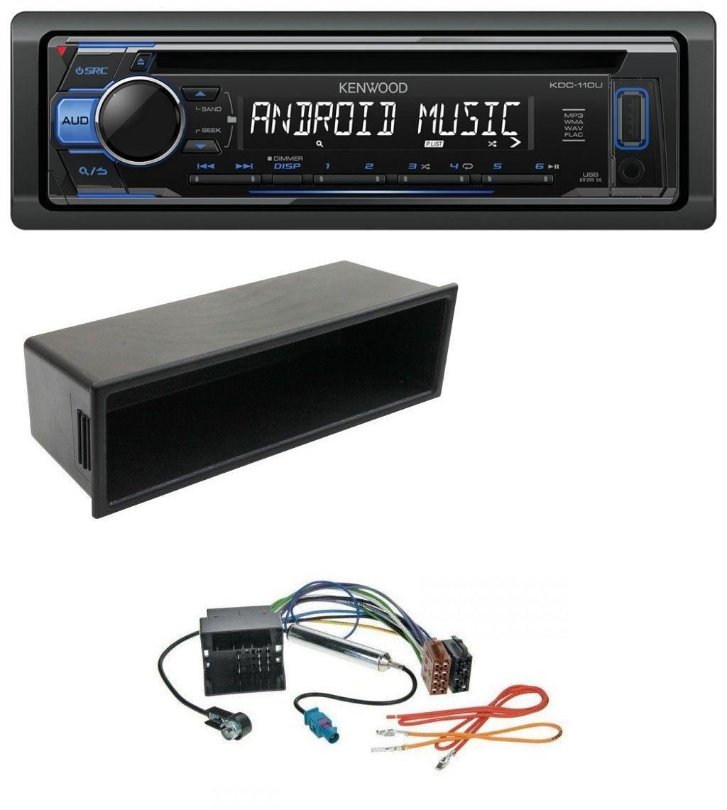 caraudio24 Kenwood KDC-110UB 1DIN MP3 USB CD Aux Autoradio fü r VW Polo Lupo Fox Passat T5