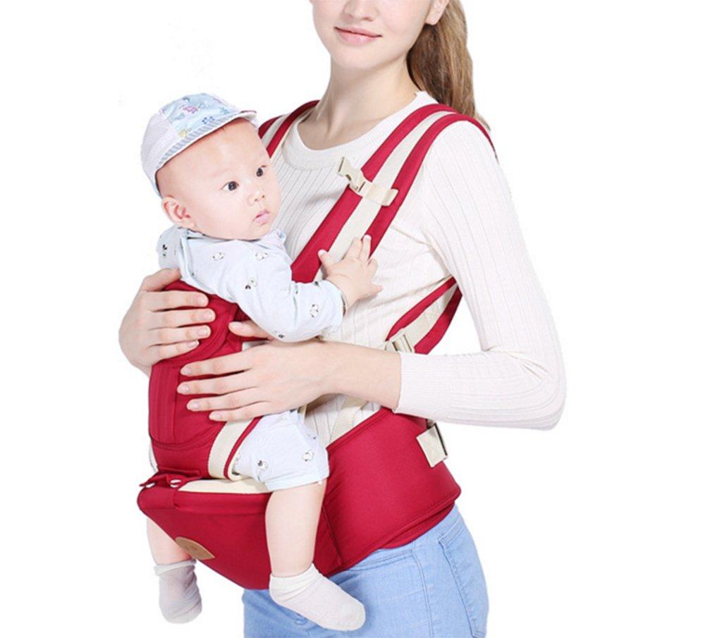 mit gepolsterter Kopfst/ütze Vorder Babytrage und R/ückseite Tragegurt f/ür Kleinkinder und Kleinkinder