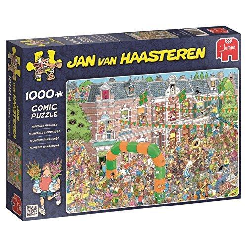 Jan van Haasteren Nijmegen Marches Jigsaw Puzzle (1000-Piece) by Jan van Haasteren