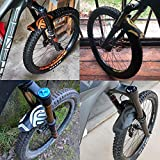 "FIFTY-FIFTY Mountian Bike Fender,MTB Mudguard,Front and Rear Compatible,Fits 26"", 27.5"", 29"", Plus Size and Fat Bike Wheel"