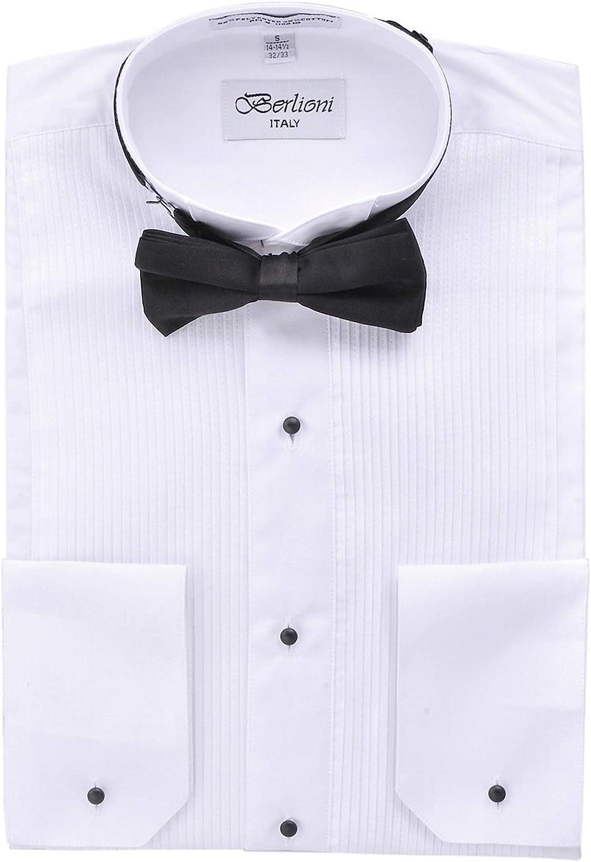 Mens White Wingtip tuxedo shirt ALL SIZES NEW IN BAG