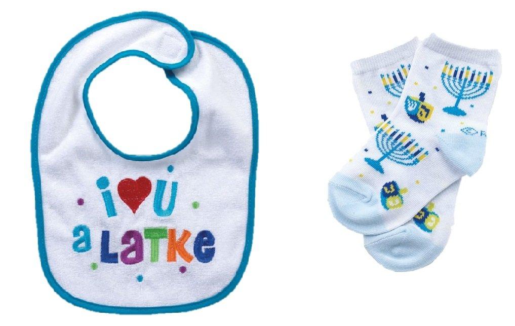 Hanukkah Baby Bib and Crew Socks by Quality Judaica
