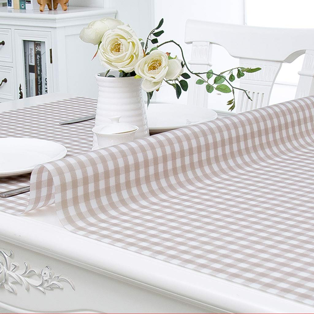 100100cm Gtt Soft glass Transparent Tablecloths PVC Coffee cover cloth towel geometry pattern plant flowers waterproof Antifouling Mold elegant (Size   100  100cm)