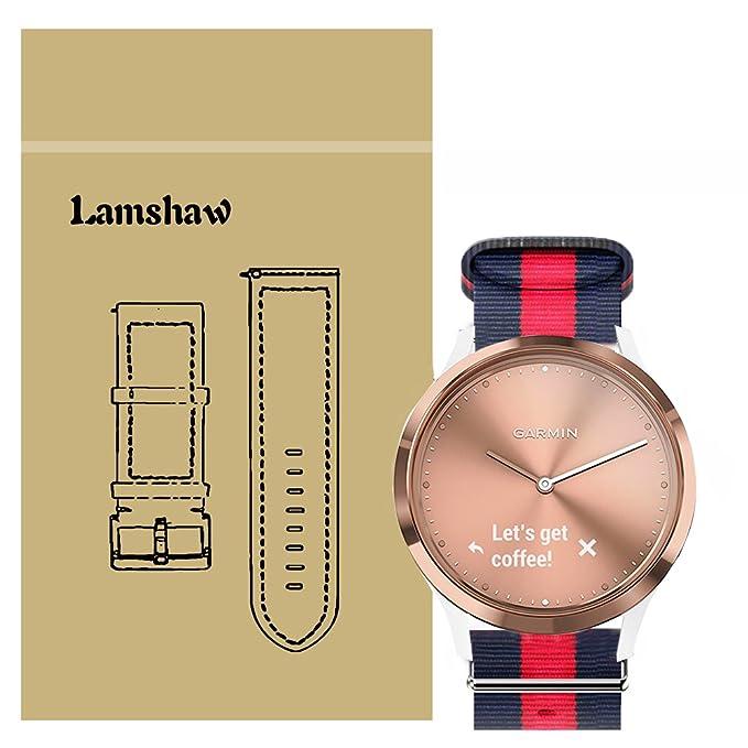 Lamshaw Smartwatch Bandas para Garmin Vivomove HR,Sport ...