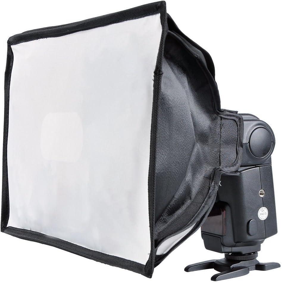 Godox 20cm x 30cm Nikon Godox Flash speedlite with CONXTRUE LED USB Universal Collapsible Mini Flash Diffuser Softbox Compatible for Canon fuji,Neewer Sony 7.8x11.8inches
