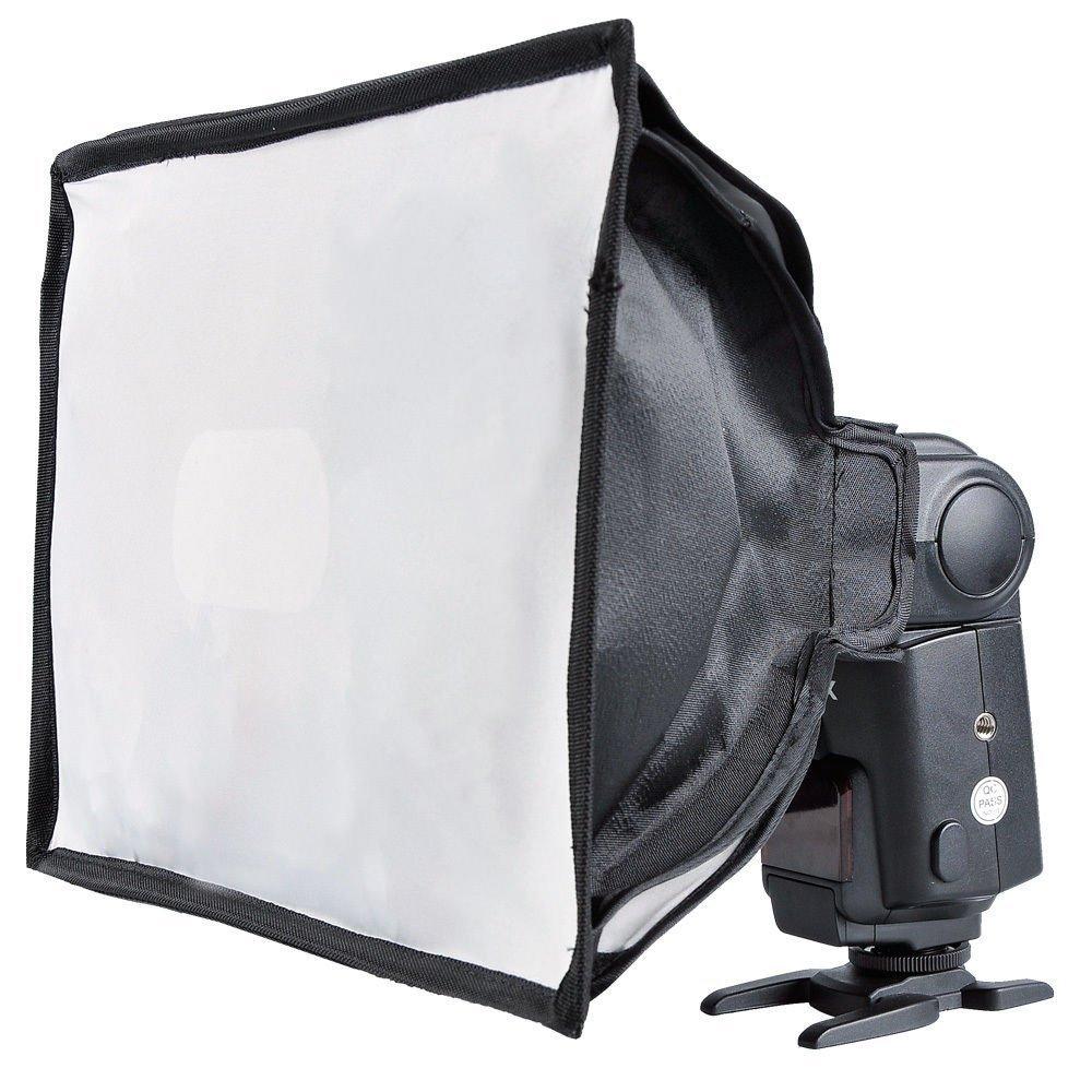 Godox Flash Diffuser Light Softbox 8x12 inch(Universal, Collapsible) Compatible Canon, Nikon Godox etc. Speedlight Flash