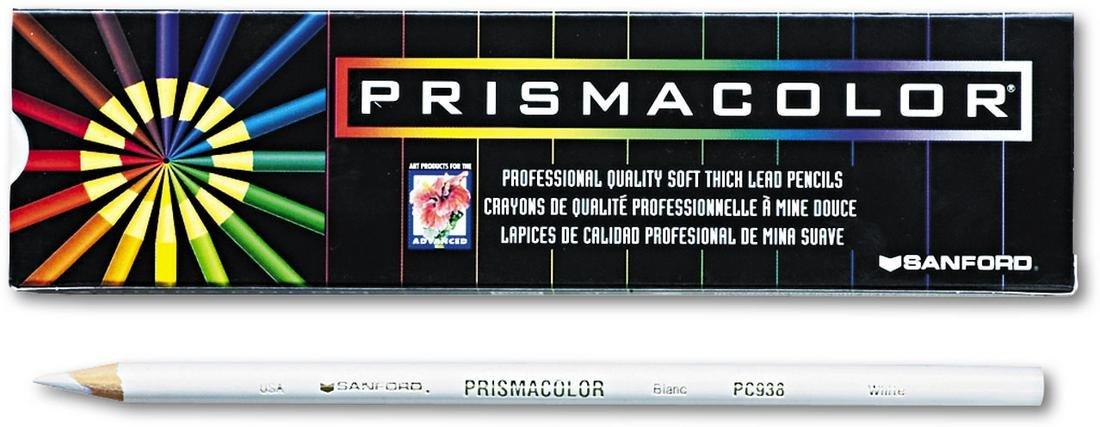 Prismacolor 3365 Premier Soft Core Colored Pencil, White Pack of 12