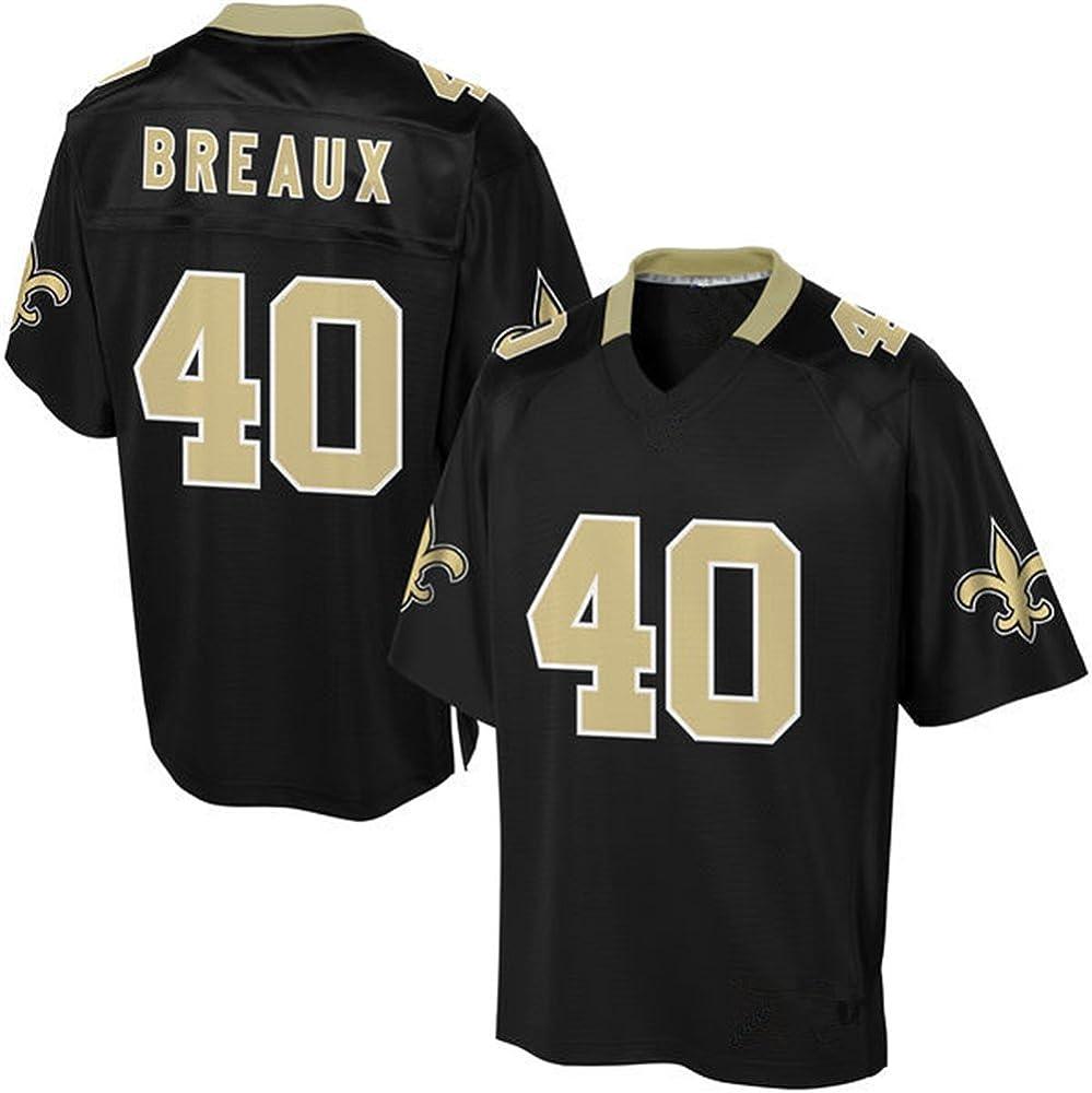 CCCCEEW New Orleans Saints #40 Delvin Breaux Black Mens Replica ...