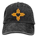 QQQWZH-A Zia with Heart Symbol - New Mexico State Flag Fishing Jean Cap
