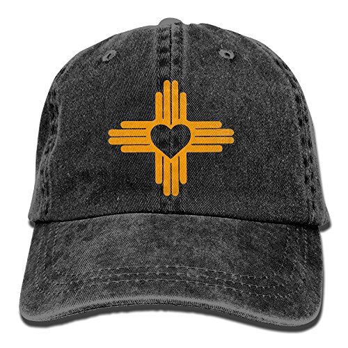 QQQWZH-A Zia with Heart Symbol - New Mexico State Flag Fishing Jean Cap by QQQWZH-A