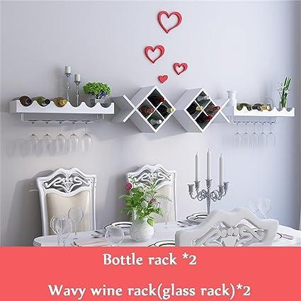 Botella de vino tipo pecera para montaje en pared 2 | Estante de vidrio | Soporte