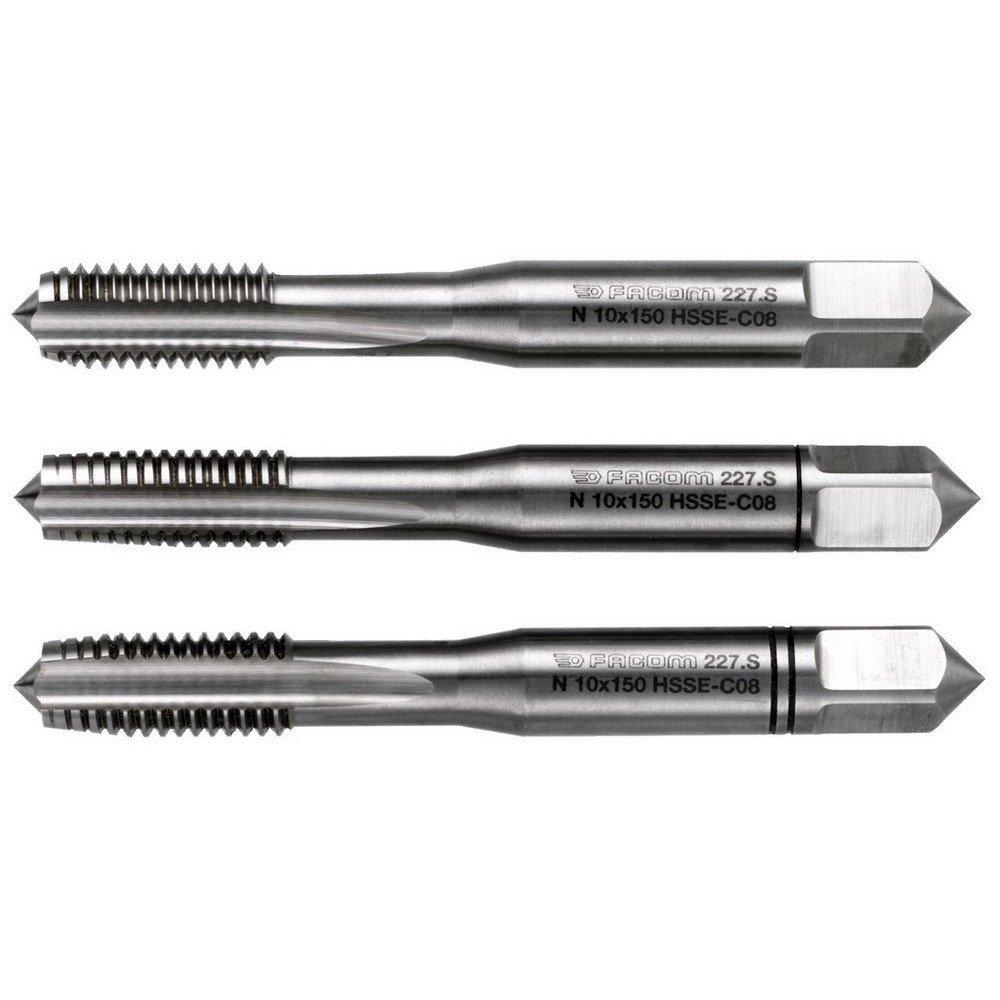 FACOM Hochpraez Gewindeindebohrer 3 Teilig, Durchmesser 3 mm Steigung 50, 1 Stü ck, 227.S3X50T3 BLAMT