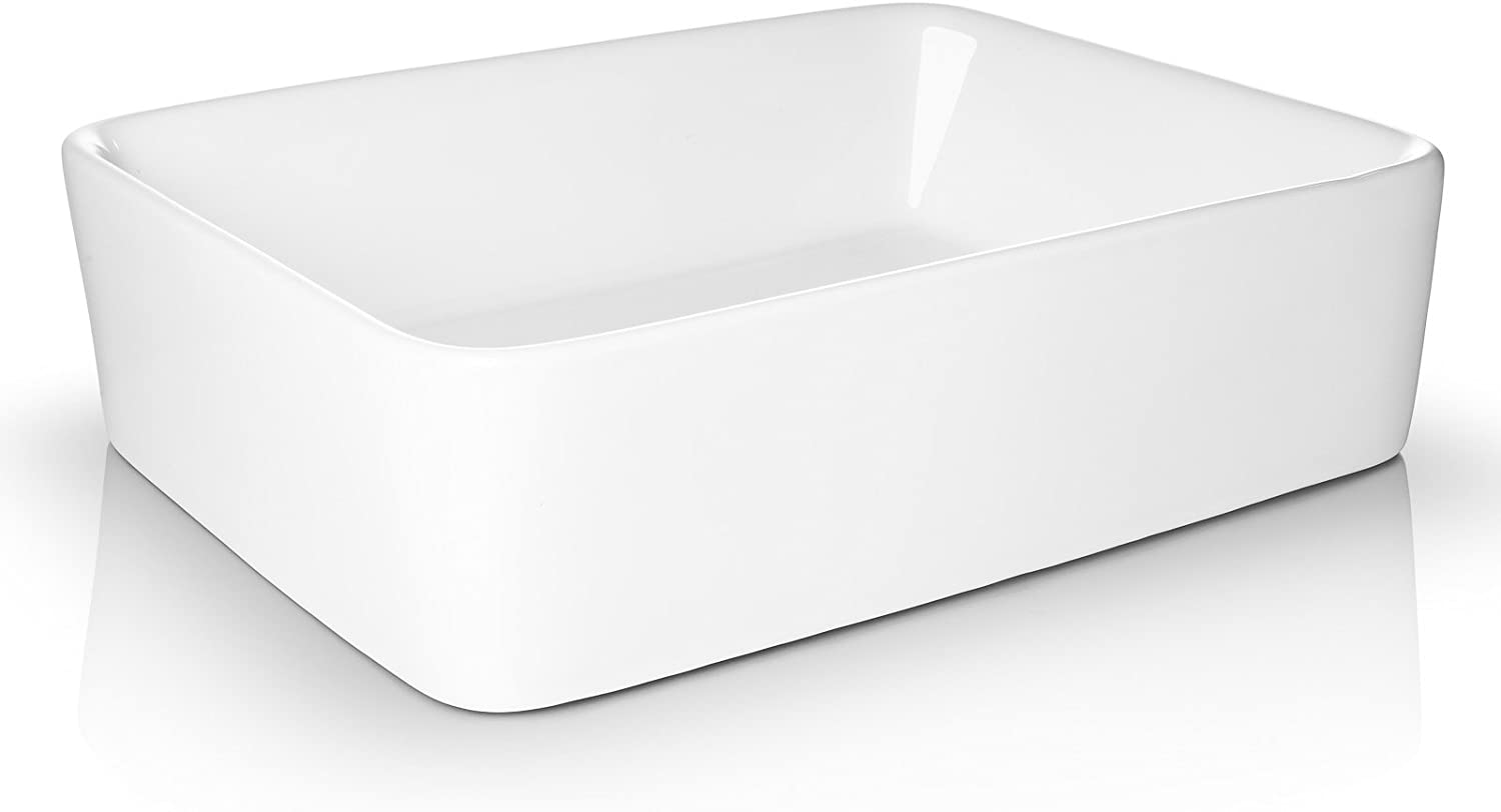 Best vanity bowl: Miligore Ceramic Vessel Bathroom Sink