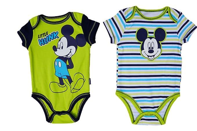 39259a7f81f1 Amazon.com  Disney Mickey Mouse Little Hunk 2pc Creeper Set  Clothing