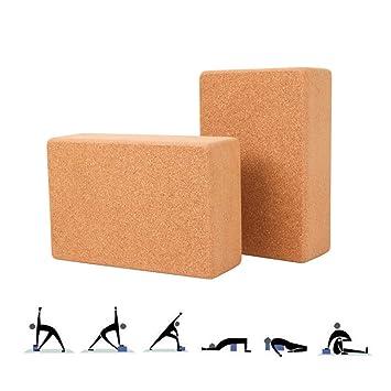LieYuSport Corcho Bloque de Yoga, Material Ecológico de Alta ...