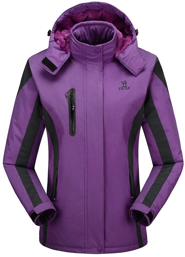Women's Alternative Outerwear Coats Snowboarding Fleece Lined Skiing Jackets Purple US Small/Asian XL