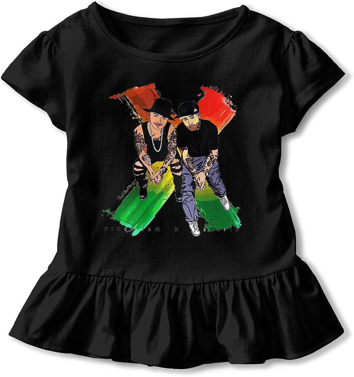 Nicky Jam X J-Balvin Camiseta de Manga Corta para niña,niño ...