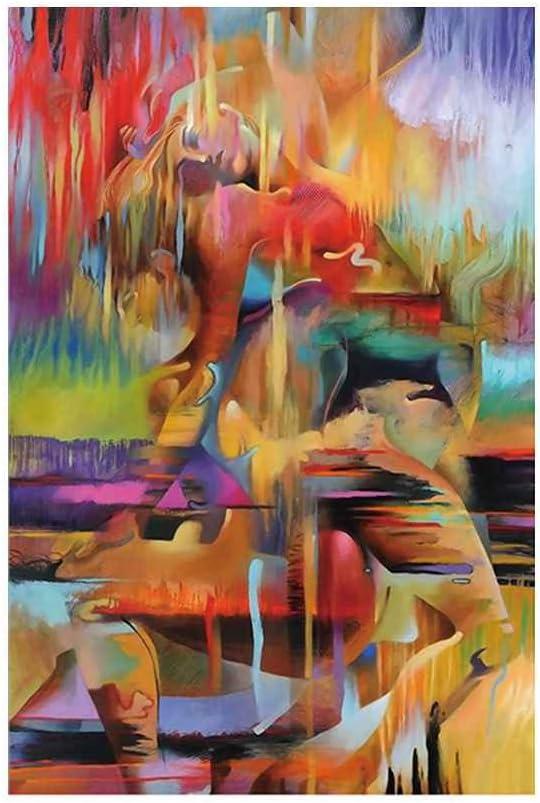 Babysbreath17 Pintura al óleo Bailarines Hombres Mujeres Cuadros Abstractos Pared de la Lona de la Acuarela de la Sala Principal de Dibujo al óleo Impresiones 40 * 60cm