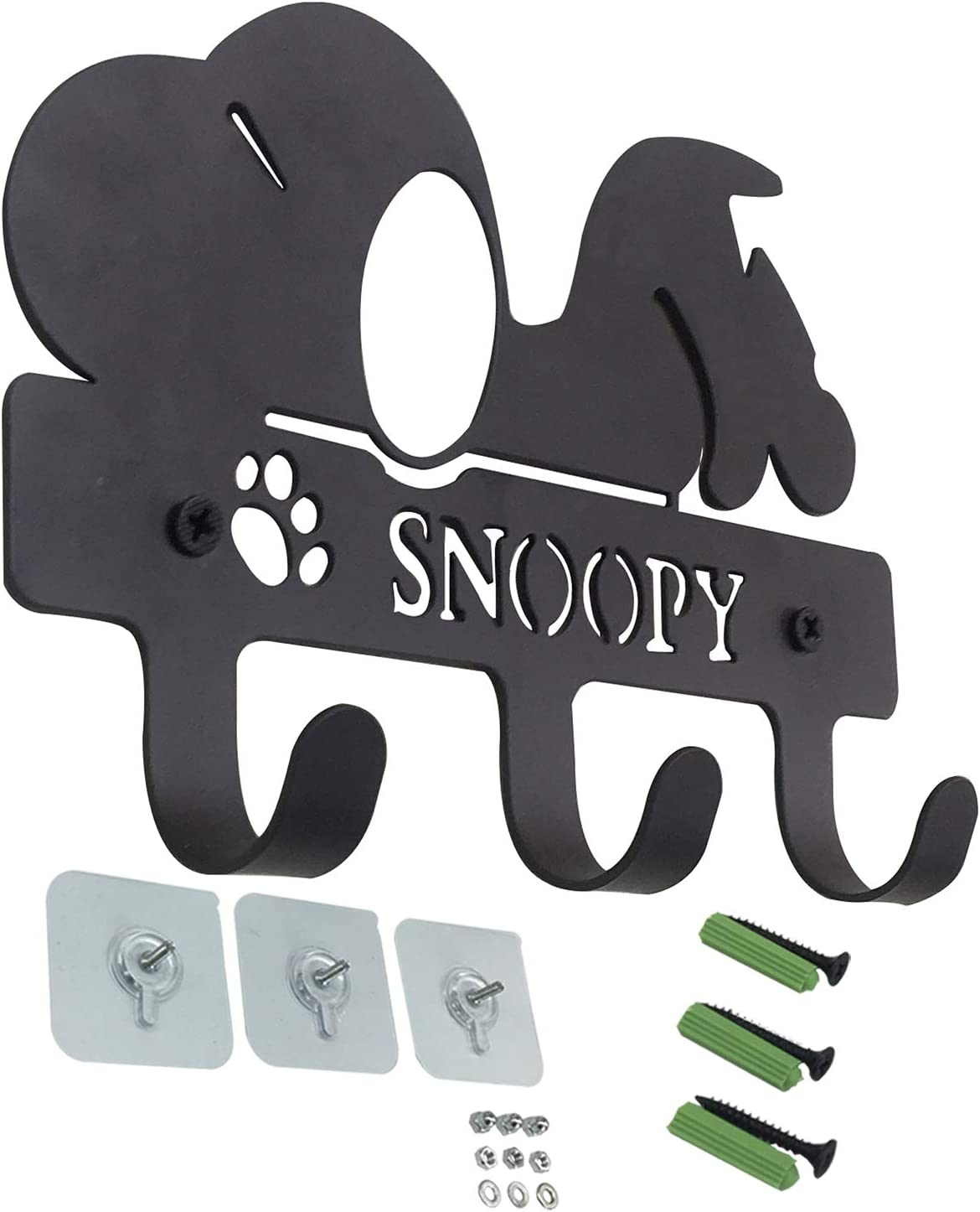 PandS Snoopy Key Hooks with 3 Hooks - Snoopy Key Hooks - Key Rack Great for Leashes Coats Purses Bags Keys and Hats - Decor for Your Home Entryway and Bathroom