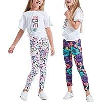 Luouse Girls Stretch Leggings Tights Kids Pants Plain Full Length Children Trousers …