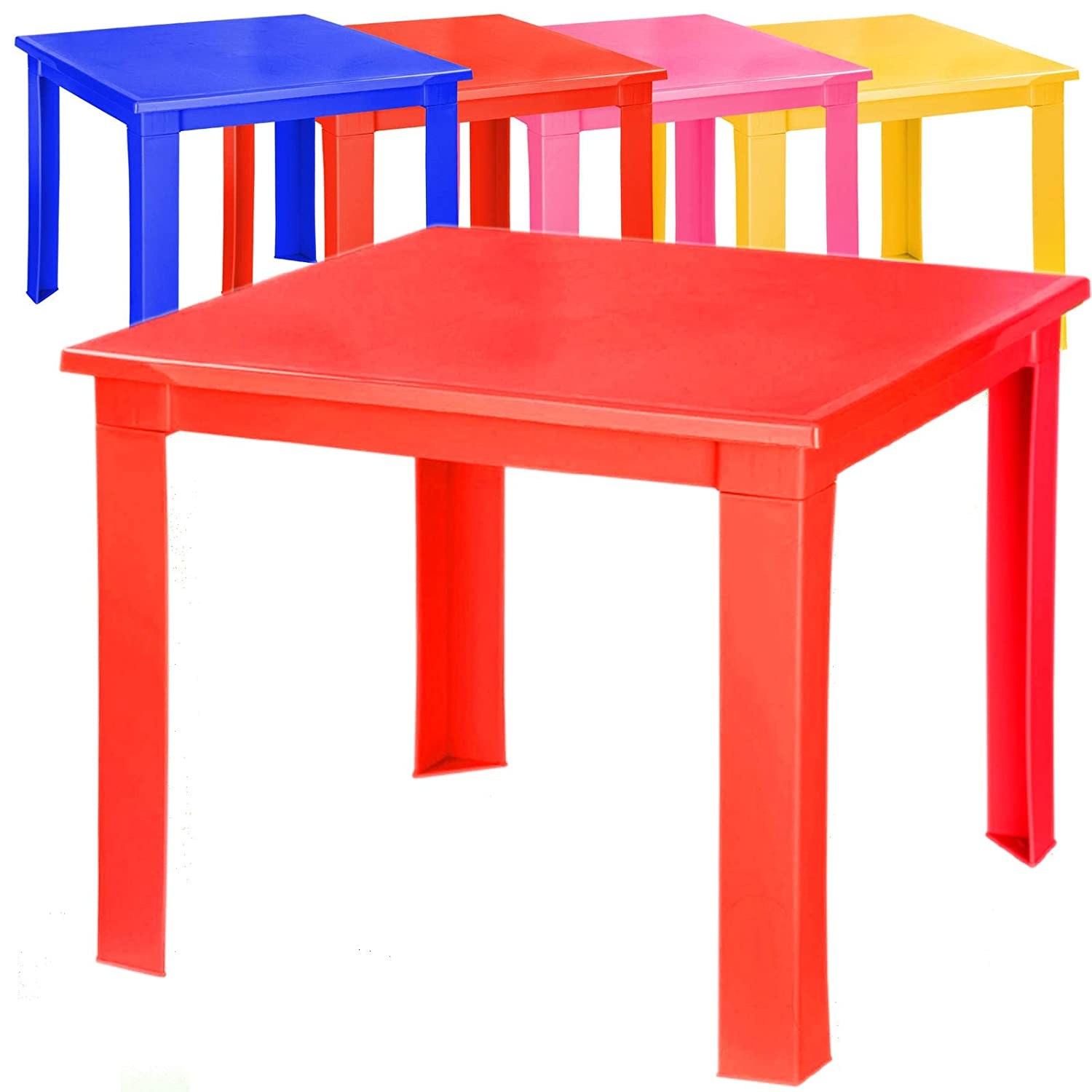 Kids Children Plastic Table Strong Folding Table High Quality Suitable for Outdoor Side Table (Blue) A406
