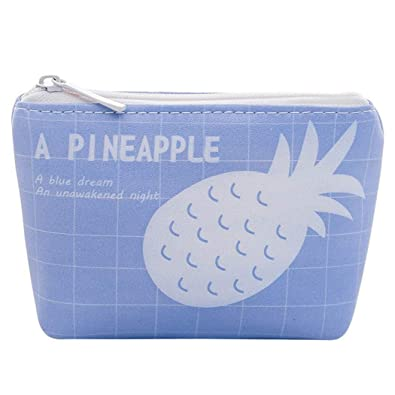 Creative Portable Pineapple Coin Purse Small Zipper Wallet Make-up Cases Bags