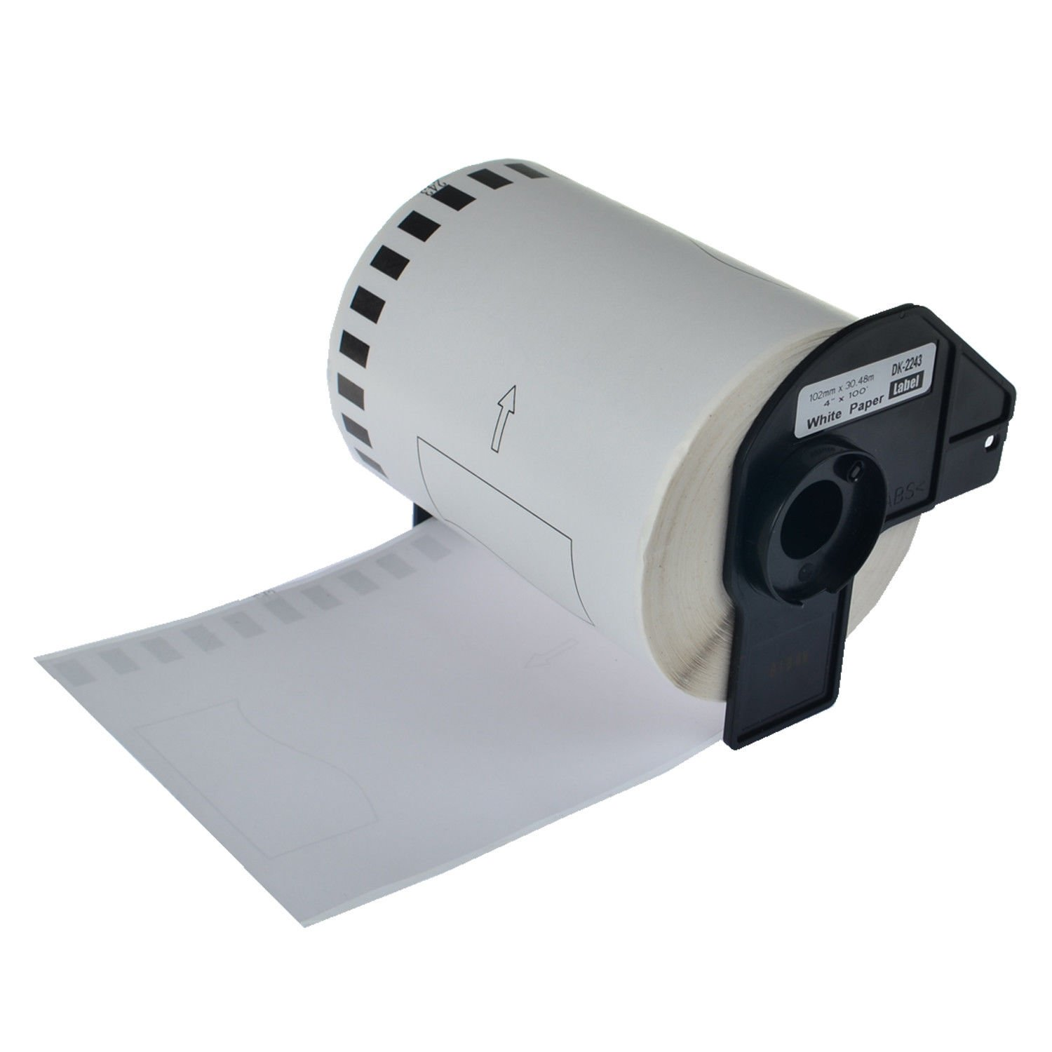 102mm x 30.43m Compatible for Brother QL-1050 QL-1050N QL-1060N QL-1100 QL-1110NWB QL Printers 4 x 100ft GREENCYCLE 5 Rolls Replacement DK2243 DK-2243 Continuous Shipping Label White Paper Tape