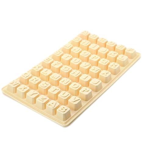 Luwu-Store Continous - Molde para Hielo de Chocolate con 48 Letras, Color Aleatorio