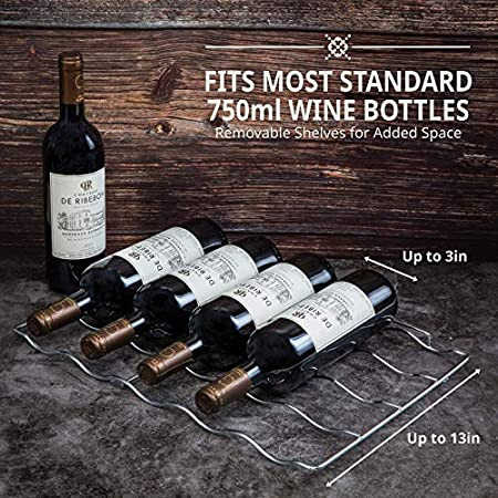 MINGDIAN Enfriador de Vino termoeléctrico con Capacidad para 18 Botellas con Controles Digitales de Temperatura - Potencia de enfriamiento silenciosa y sin Vibraciones Negro (18 Botellas)