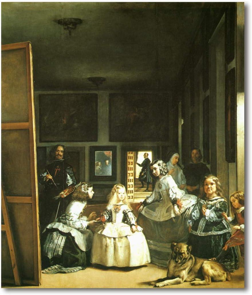 Cuadro Decoratt: Las Meninas - Diego Velazquez 48x35cm. Cuadro de impresión directa.
