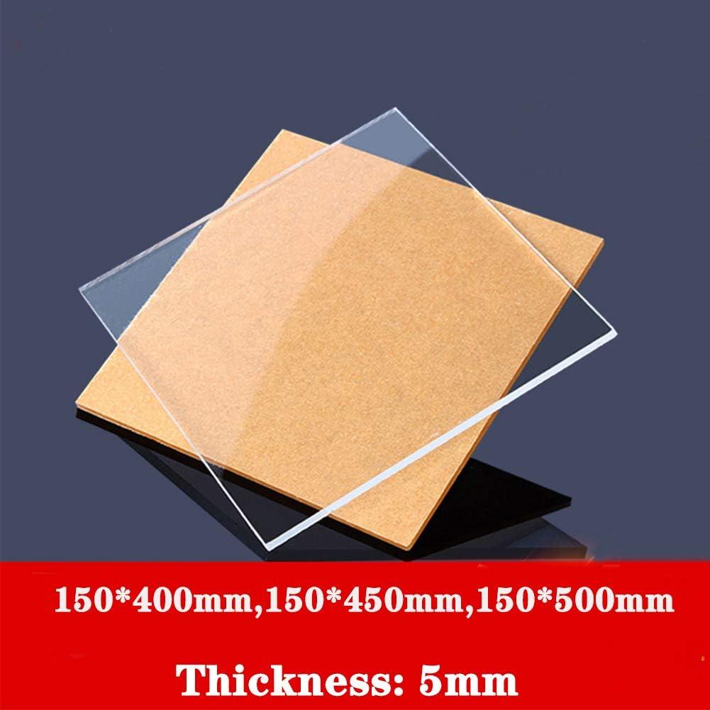 AFexm Clear Cast Plexiglass Plexi Glass Craft,2 pcs,150500mm DIY Display Projects Plastic Sheet -Thick 5mm for Signs