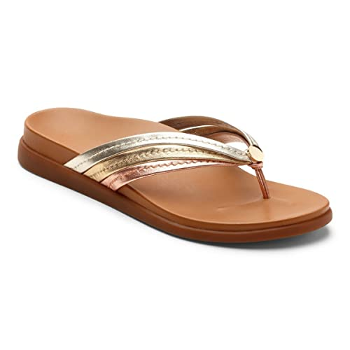 905d749b522aa Vionic Womens Palm Catalina Mixed Metallic Leather Sandals 6.5 UK ...
