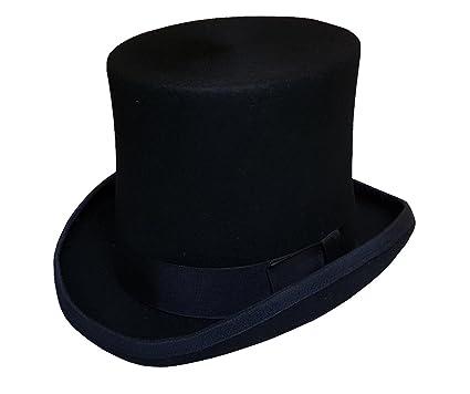 """256b76396b26de 100% Wool Felt Top Hats Vitorian Style Made Hatter 7"""" Tall Gentlemen  Magic Hats"""
